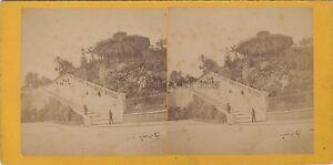 Monaco Monte-Carlo Stereo Foto Vintage Albumina Ca 1875