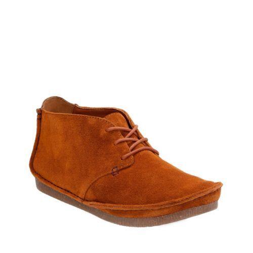 Clarks Janey Lynn Tan Suede Bottines Femmes Chaussures 4 37 D
