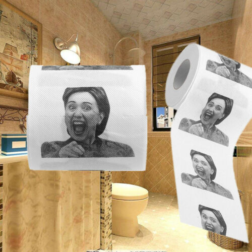 1X Hillary Clinton Novelty Toilet Paper Practical Joke Humor Gag Prank Gift USA
