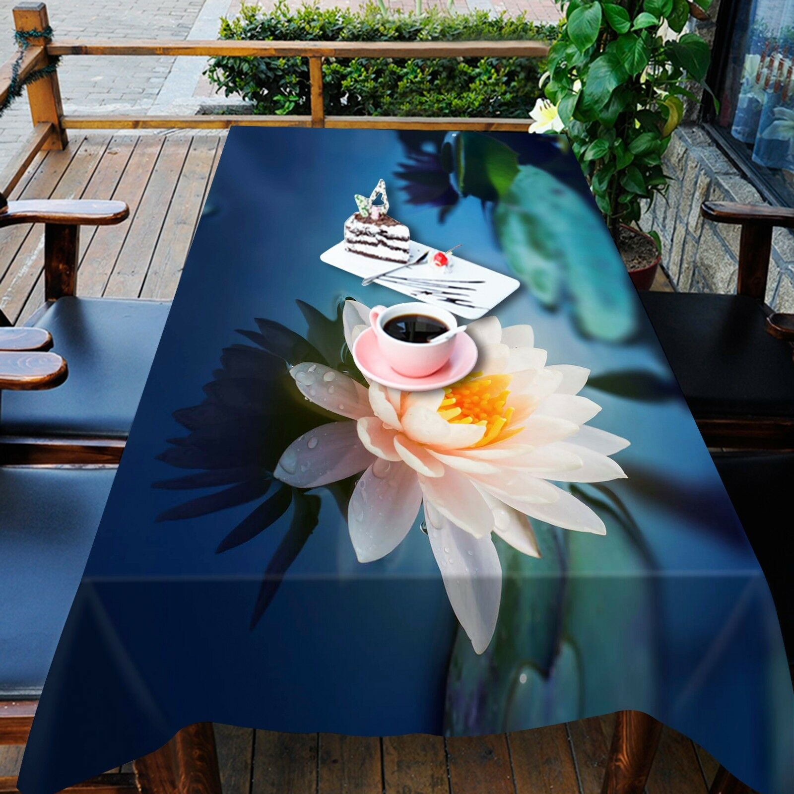 3D Lotus sea78 Tablecloth Table Cover Cloth Birthday Party Event AJ WALLPAPER AU