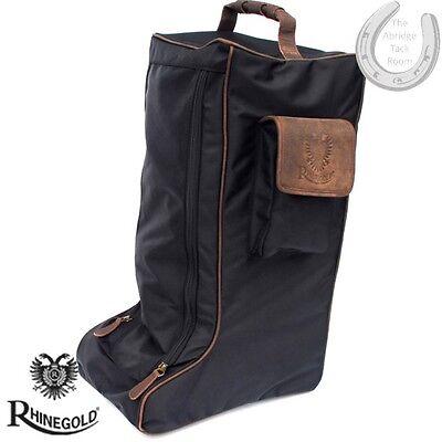 * Nuovo * Rhinegold Elite Bagagli – Lungo Boot Bag – Nero – In Viaggio, Stoccaggio- Evidente Effetto