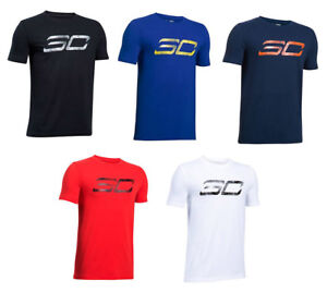 a34871fc99 Details about UNDER ARMOUR SC30 BOY'S LOGO TEE SHORT SLEEVE SHIRT STEPHEN  CURRY S M L XL NEW