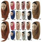 42Color Women Amira Islamic Chiffon Long Scarf Hijab Wrap Shawls Headwear Muslim