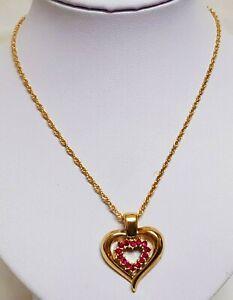 COLLANA CIONDOLO CUORE colore oro pendente dorato donna gioiello regalo fashion