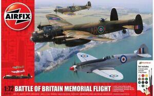 AIRFIX-50182-BATTLE-OF-BRITAIN-MEMORIAL-FLIGHT-plastic-model-kit-Spitfire-1-72th