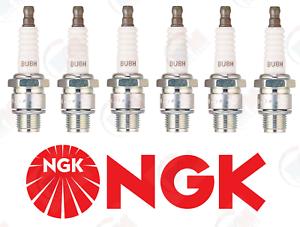 """Set of 6 NGK BU8H /""""Non-Resistor/"""" Spark Plugs 6431"""