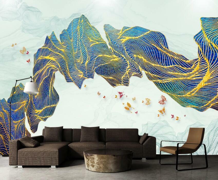 3D Abstraktes Muster H1608 Tapete Wandbild Selbstklebend Abnehmbare Aufkleber We