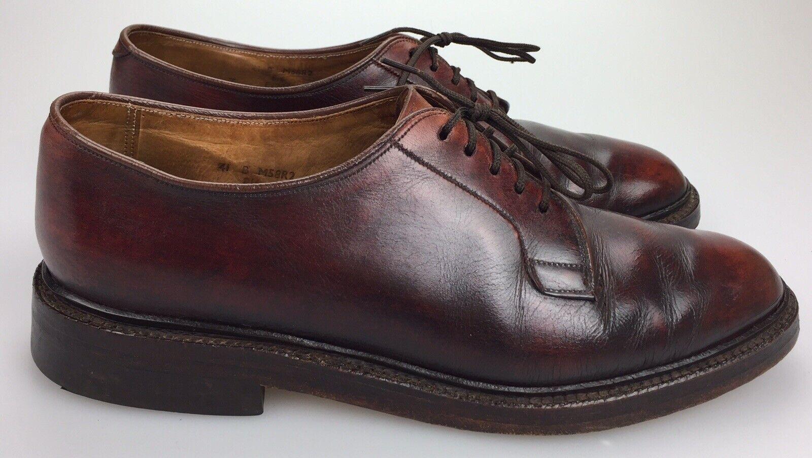 Brooks Brojohers English Zapato para Hombres 8 41 Cuero Marrón Llano Toe Hecho En Inglaterra