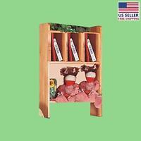 Desktop Shelf Unit Honey Pine Solid Wood | Renovator's Supply