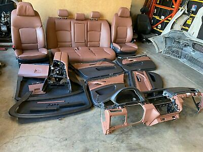 Bmw F10 550i M Sport 2011 2016 Oem Set Brown Black Seat Panels Dash Shade 82k Ebay
