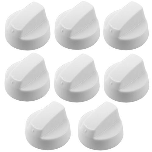 Plaque de cuisson et Brûleur Boutons 8 X Indesit Blancs Pour Four Cuisinière