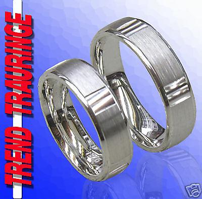 Vorsichtig 2 Silber Ringe Trauringe Verlobungsringe & Gravur Tt37