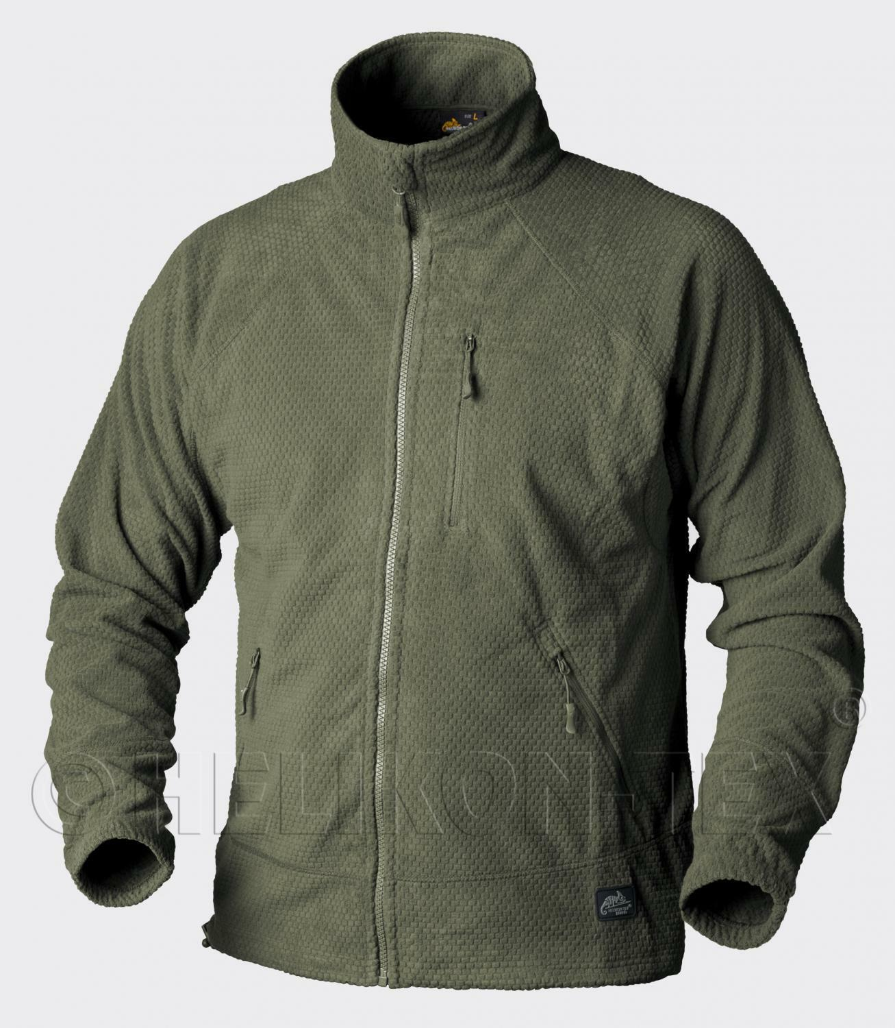 Helikon Tex Alpha Grid Outdoor Lightwight Giacca in Pile Jacket verde Oliva XL Xlarge