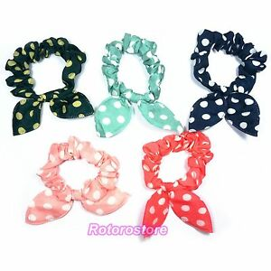 Bunny-Ears-Polka-Dot-Hair-Band-Bobble-Tie-Beautiful-Womens-Girls-Head-NEW
