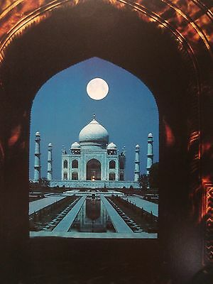 TAJ MAHAL & A FULL MOON OUTSIDE AGRA LIFE MAGAZINE 1967 PHOTO 4X6 GLOSSY PAPER