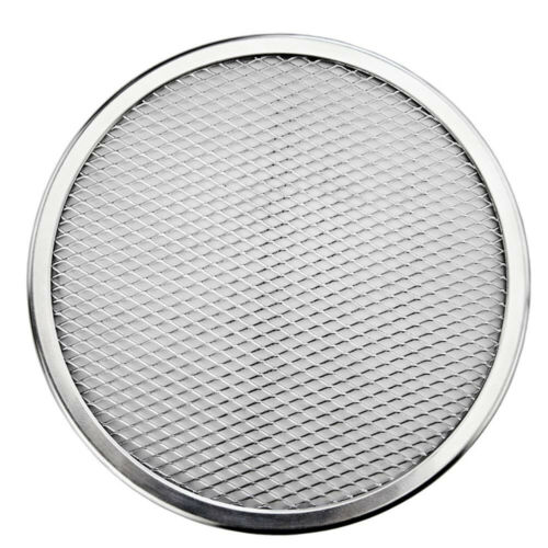 Pizza Tray Mesh Seamless Aluminum Pancake Pizza Screen Baking Tray Net Bakeware