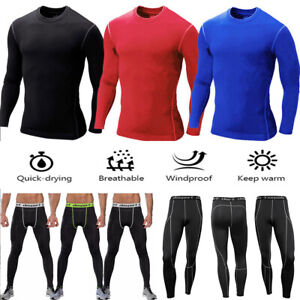 Mens Boys Body Armour Compression Baselayers Thermal Under Shirt Top Skins  Pants | eBay