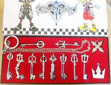12pcs Kingdom Hearts Sora Crown&Roxas Cross KEYBLADE Halskette zwei Stücke Set