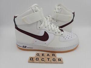 Nike Air Force 1 High Shoe White / Maroon Women's Size 7 ...