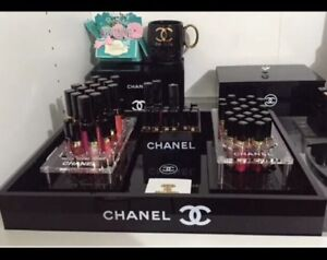 Image is loading CHANEL-EXTRA-LARGE-TRAY-VANITY-MAKEUP-STORAGE-ORGANIZER- & CHANEL EXTRA LARGE TRAY VANITY MAKEUP STORAGE ORGANIZER VIP GIFT | eBay
