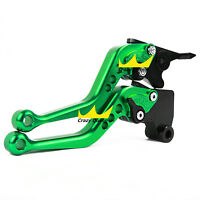 For Kawasaki Ninja 250r 2008-2012 Short Adjustable Brake Clutch Levers Green Us