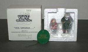Dept-56-Yes-Virginia-Set-of-2-Christmas-in-The-City-Retired-2000-New-58890
