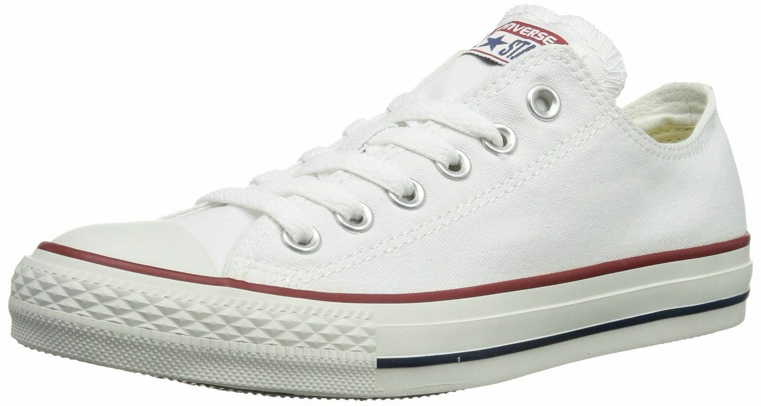 Converse Chuck Taylor All Star Weiß Ox Lo Unisex Trainers schuhe
