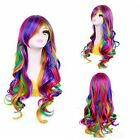 New Fashion Women Ombre WIgs Long Heat Resistant Curly Hair Party Cosaply Wigs
