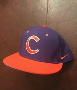 56ea4b38040f1 New Men s Nike Purple Clemson Tigers True Performance Fitted Hat Cap ...