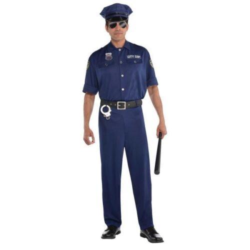 Adult Policeman Police Uniform Mens Fancy Dress Costume Party M-XXL On Patrol