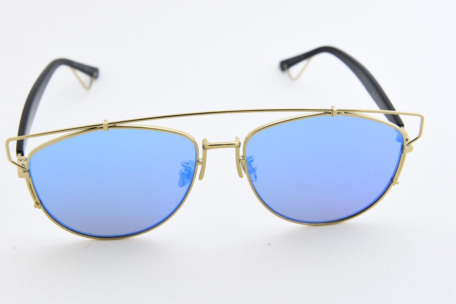 27b9069c641 Christian Dior Technologic Rhl 2a Gold Black blue Mirror Sunglasses ...
