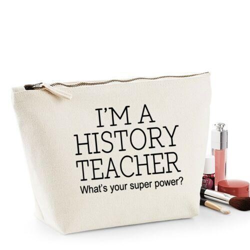 Insegnante di storia grazie regalo Women/'s Make Up Borsa Da Accessorio