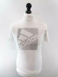 ADIDAS-Boys-T-Shirt-Top-L-Large-White-Cotton