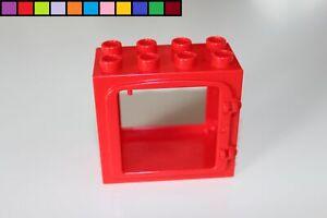 LEGO Duplo-fenêtre utilisation-Rouge-Bâtiment-Maison de Poupée-Ferme