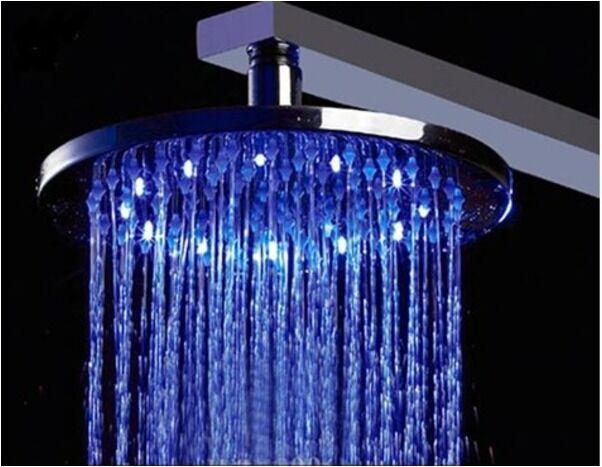 LED LED LED Regendusche Duschkopf Duschbrause Brausedusche rund 30 cm 300 mm massiv Mess 6a378a