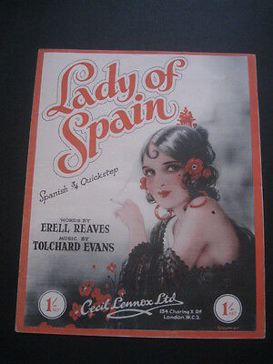 LADY OF SPAIN - Vintage Sheet Music - by ERELL REAVES & TOLCHARD EVENS