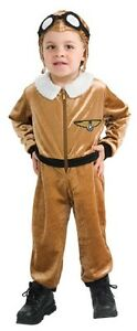 Image is loading Aviator-Airplane-Plane-Pilot-Retro-Fancy-Dress-Halloween-  sc 1 st  eBay & Aviator Airplane Plane Pilot Retro Fancy Dress Halloween Toddler ...