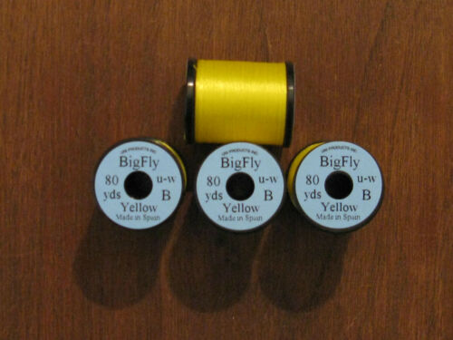 80yds. Yellow Fly Tying Uni Big Fly Thread