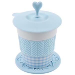 Gobelet-stylo-Porzellan-Silikon-15x10x8cm-Blanc-Bleu-Tasse-de-Cafe-Design