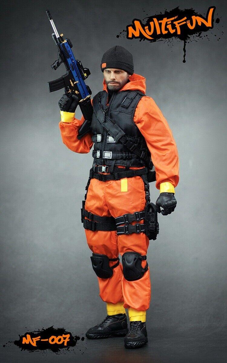 1 6 ropa de agente de zona de cuarentena Multifunción MF007 Modelo Set Juguetes no cuerpo sin cabeza