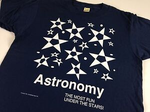 Astronomy T-Shirt VTG 1992 Most Fun Under The Stars Screen Stars Unisex USA Made