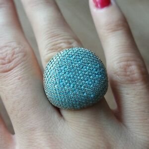 Turkish-Handmade-Jewelry-Sterling-Silver-925-Turquoise-Ladies-Ring-6-7-8-9