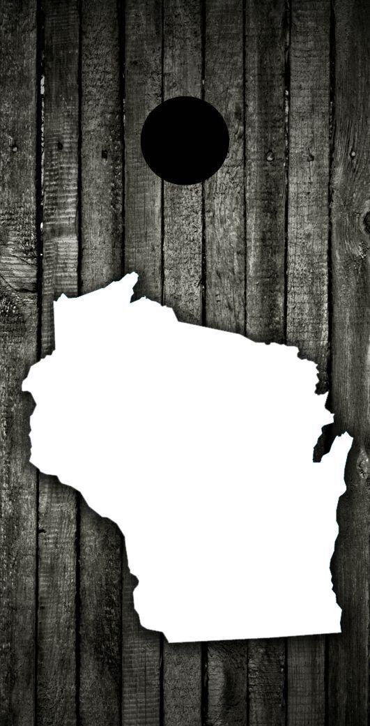 Wood (Wisconsin)Theme Cornhole Board Prints    Wraps   Corn Hole  leisure