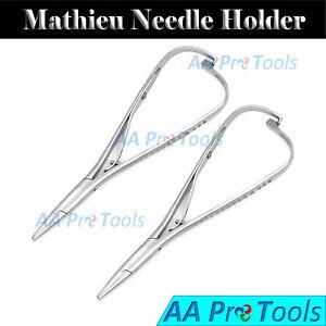 2-Mathieu-Needle-Holder-5-50-034-Orthodontic-Surgical-Dental-Instruments-New