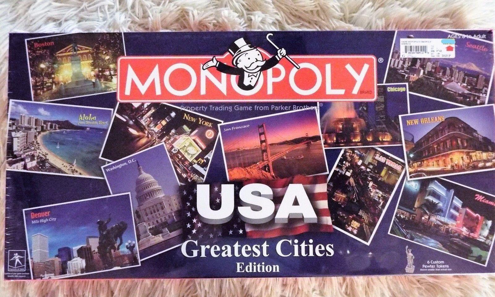 MONOPOLY USA Greatest Cities Edition, 2005 USAopoly, HASBRO, MIB