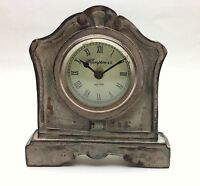 Antique Cream Finish Wood Desk/shelf Clock 6.75 High X 6.25 Wide
