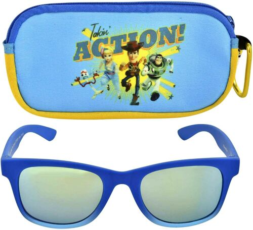 Toy Story 4 Buzz /& Woody Garçons 100/% UV Eclat Résistant Sunglasses/&soft Étui
