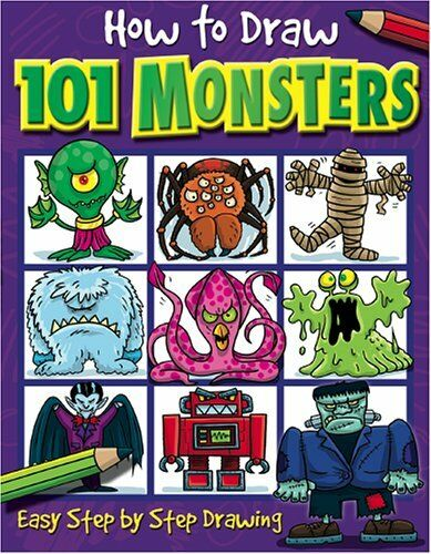 1 of 1 - How to Draw 101 Monsters: Easy Step-by-step Drawing (How to draw) by Dan Green