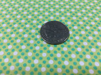Bty Michael Miller 100% Cotton Fabric Dim Dots Limeade 45w