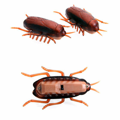 Funny Electronic Cockroach Pet Cat Puppy Kitten Interactive Training Play Toy U